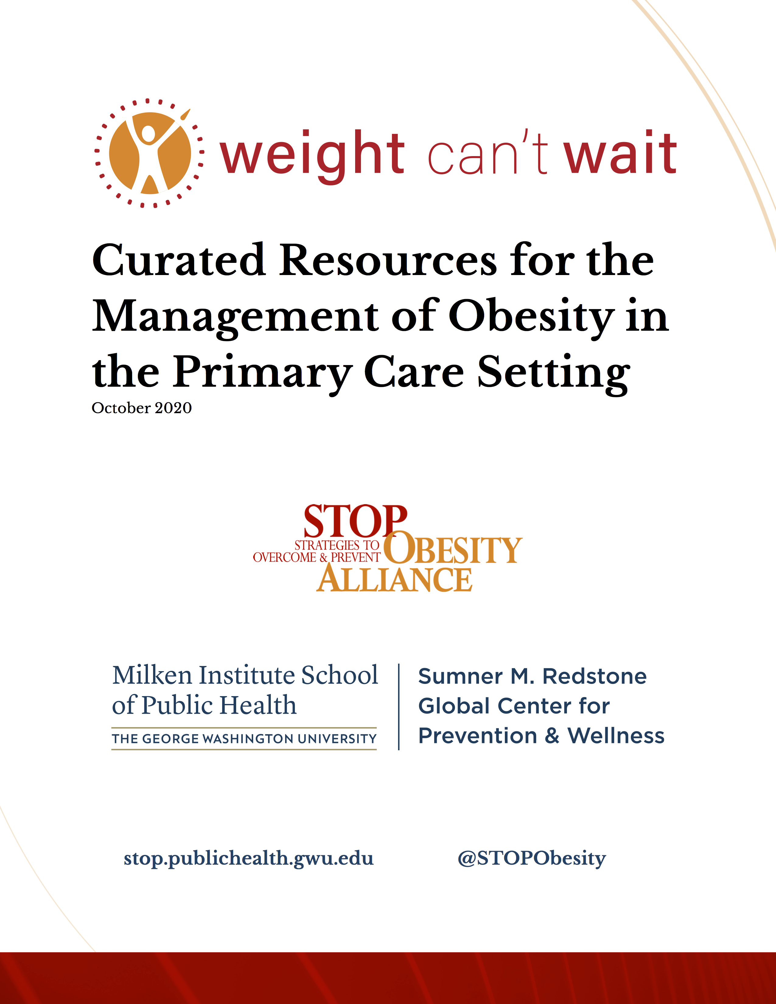 Cover of the Curated Resources section of the Weight Can't Wait Guide.