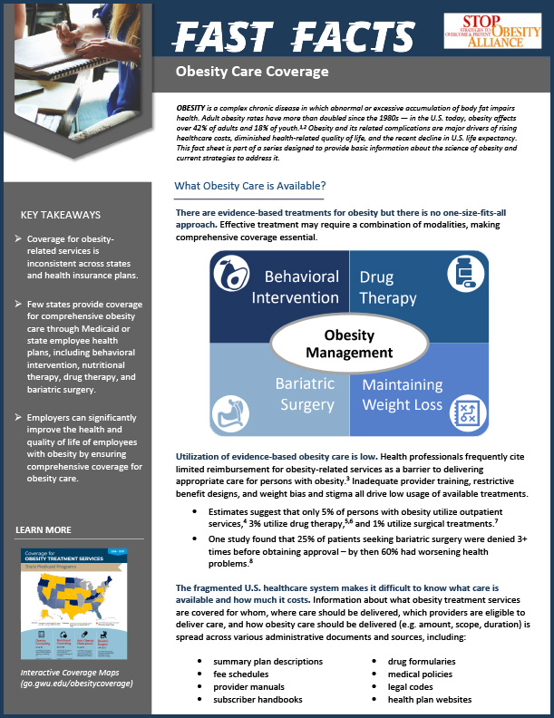 STOP Fact Sheet - Obesity Care Coverage